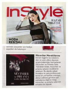 In Style dergisi kitap tanıtımı
