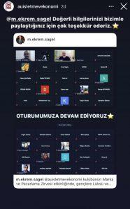 Eskişehir Anadolu Üniversitesi işletme ve ekonomi kulübünün Marka ve Pazarlama zirvesi. Ekrem Sağel