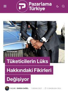 Pazarlama Türkiye makale. Ekrem Sağel